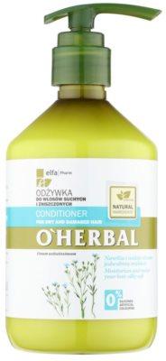O'Herbal Linum Usitatissimum балсам за суха и увредена коса
