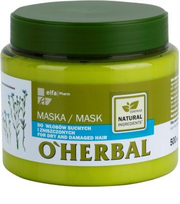 O'Herbal Linum Usitatissimum máscara para cabelo seco a danificado
