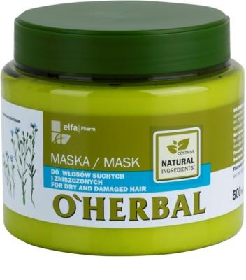 O'Herbal Linum Usitatissimum mascarilla para cabello seco y dañado