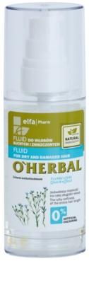 O'Herbal Linum Usitatissimum Fluid für trockenes und beschädigtes Haar