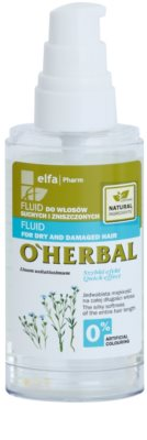 O'Herbal Linum Usitatissimum fluid pentru par uscat si deteriorat 1