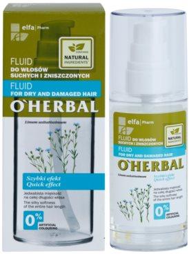 O'Herbal Linum Usitatissimum fluid pentru par uscat si deteriorat 2