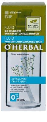 O'Herbal Linum Usitatissimum fluid pentru par uscat si deteriorat 3