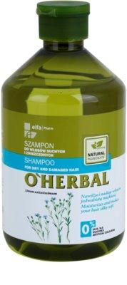 O'Herbal Linum Usitatissimum šampon pro suché a poškozené vlasy