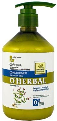 O'Herbal Mentha Piperita condicionador para cabelo oleoso
