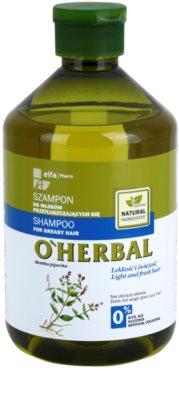 O'Herbal Mentha Piperita champô para cabelo oleoso