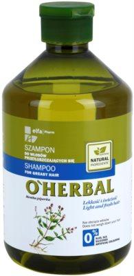 O'Herbal Mentha Piperita šampon pro mastné vlasy