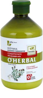 O'Herbal Thymus Vulgaris condicionador para cabelo pintado