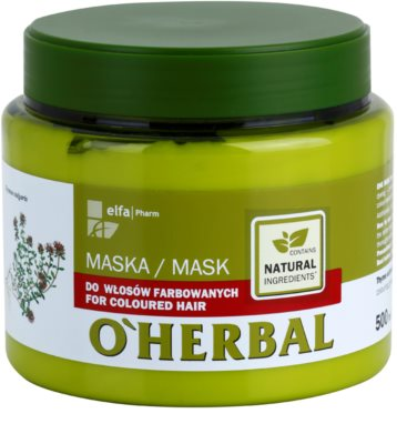 O'Herbal Thymus Vulgaris maska pro barvené vlasy