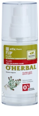 O'Herbal Thymus Vulgaris защитен флуид за боядисана коса