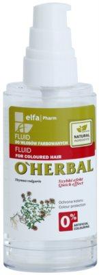 O'Herbal Thymus Vulgaris защитен флуид за боядисана коса 1