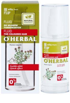 O'Herbal Thymus Vulgaris защитен флуид за боядисана коса 2