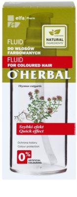 O'Herbal Thymus Vulgaris fluid nawilżająco-ochronny do włosów farbowanych 3