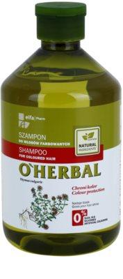 O'Herbal Thymus Vulgaris champô para cabelo pintado