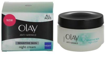 Olay Anti-Wrinkle Sensitive Skin krem na noc przeciw starzeniu się skóry 2