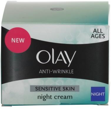Olay Anti-Wrinkle Sensitive Skin krem na noc przeciw starzeniu się skóry 4