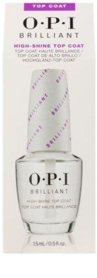 OPI Brilliant vrchní ochranný lak na nehty s leskem 2