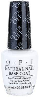 OPI Natural Nail Glitter Off camada de base para fácil remoção dos brilhantes