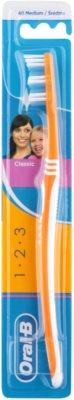 Oral B 1-2-3 Classic Care escova de dentes medium