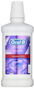 Oral B 3D White Luxe apa de gura pentru dinti albi si stralucitori