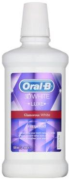 Oral B 3D White Luxe enjuague bucal para dientes blancos y radiantes