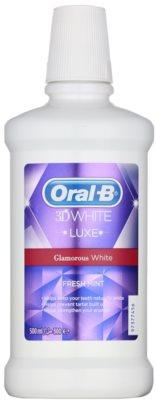 Oral B 3D White Luxe ustna voda za sijoče bele zobe