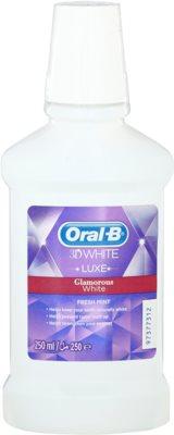 Oral B 3D White Luxe elixir bucal branqueador para reforçar o esmalte dentário