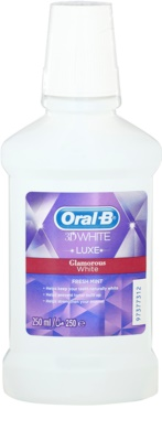 Oral B 3D White Luxe избелваща вода за уста за да се засили зъбния емайл