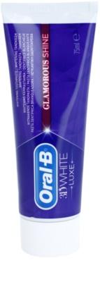 Oral B 3D White Luxe Pasta de branqueamento para manchas no esmalte