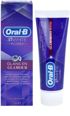 Oral B 3D White Luxe bleichende Zahnpasta gegen Zahnschmelzflecken 1