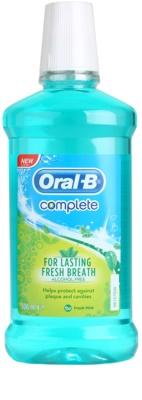 Oral B Complete elixir bucal contra a placa bacteriana e para ter uma gengivas saudáveis