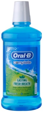 Oral B Complete enjuague bucal contra el mal aliento