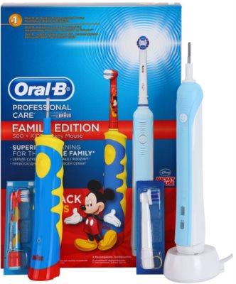Oral B Family Edition D16.513.U + D10.51K elektryczna szczoteczka do zębów + elektryczna szczoteczka do zębów dla dzieci