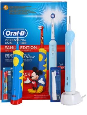 Oral B Family Edition D16.513.U + D10.51K Escova de dentes elétrica + escova de dentes elétrica para as crianças
