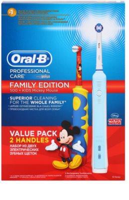 Oral B Family Edition D16.513.U + D10.51K elektrische Zahnbürste + elektrische Zahnbürste für Kinder 2
