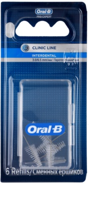 Oral B Pro-Expert Clinic Line nadomestne medzobne koničaste ščetke v blistru 6 ks