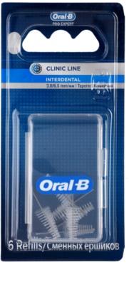 Oral B Pro-Expert Clinic Line zapasowe stożkowate szczoteczki międzyzębowe w zestawie 6 szt.