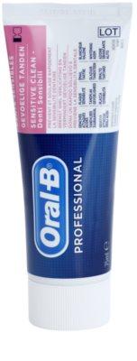 Oral B Professional Sensitive Clean paszta érzékeny fogakra