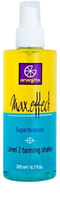 Oranjito Level 2 Shake spray bronceador bifásico para solárium