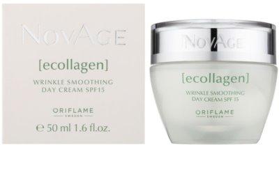 Oriflame Novage Ecollagen crema antiarrugas con efecto alisador SPF 15 1