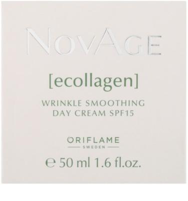 Oriflame Novage Ecollagen crema antiarrugas con efecto alisador SPF 15 2