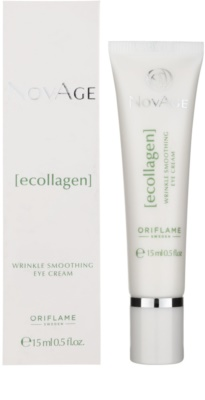Oriflame Novage Ecollagen gladilna krema za predel okoli oči proti gubam in temnim kolobarjem 1