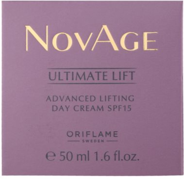 Oriflame Novage Ultimate Lift nappali liftinges kisimító krém SPF 15 2