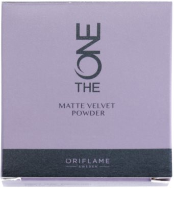 Oriflame The One Matte Velvet pudra matuire 3