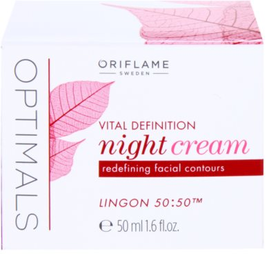 Oriflame Optimals Vital Definition crema de noche reafirmante 3