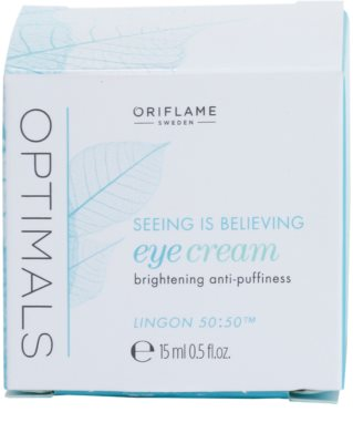 Oriflame Optimals Seeing Is Believing krema za osvetljevanje predela okoli oči proti temnim kolobarjem 2