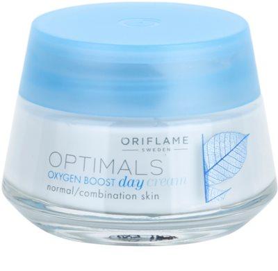Oriflame Optimals Oxygen Boost odświeżający krem na dzień do cery normalnej i mieszanej