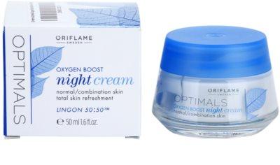 Oriflame Optimals Oxygen Boost crema de noche para pieles normales y mixtas 1