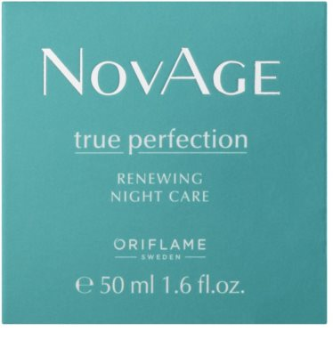 Oriflame Novage True Perfection нічна відновлююча емульсія для досконалої шкіри 2