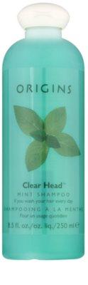 Origins Clear Head® frissítő sampon borsmentával